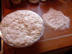 Teigbällchen für jede Pizza machen