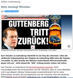 Guttenberg Netz besiegt Minister