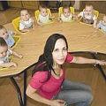 Bild: Schmunzeln: Hier der Mehrlings Kindersitz