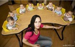 Schmunzeln: Hier der Mehrlings Kindersitz