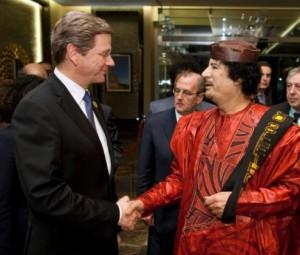 Westerwelle und Gaddafi - Bild von linksunten.indymedia.org