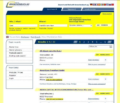 Neue Branchenbuch AG Sprachen - in englischer Sprache gesucht