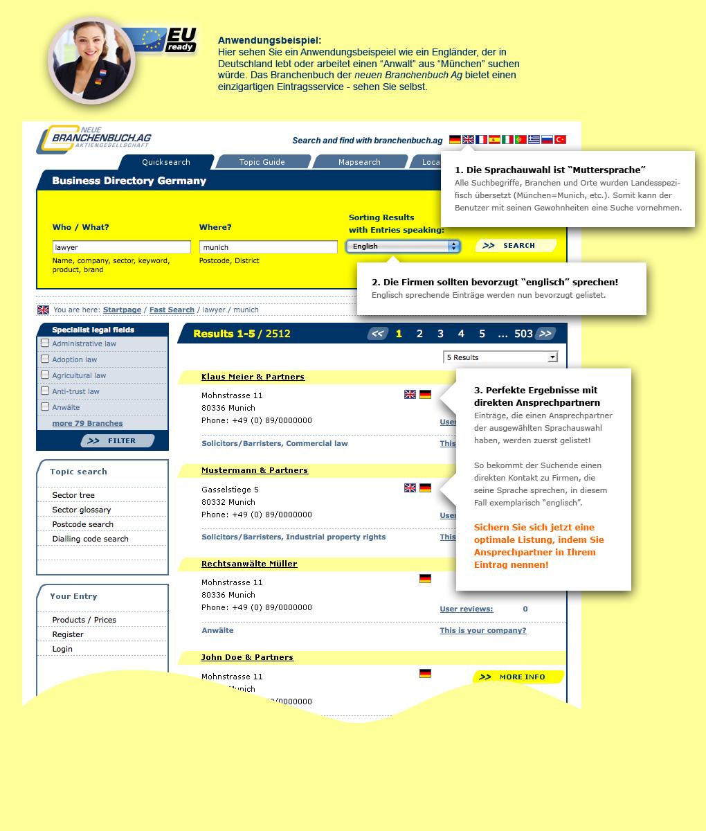 Branchenbuch AG Sprachen - für Deutschland besuchen