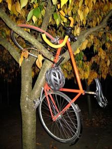 Fahrrad / Bike parken im Baum by rcoder