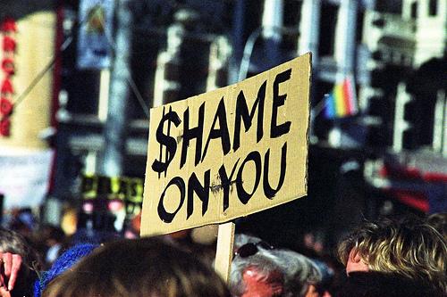 Amsterdam Occupy Shame on you - von Joost J. Bakker IJmuiden