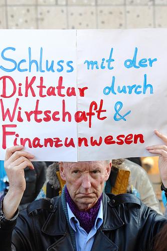 Hannover occupy Schluss mit der Diktatur durch Wirtschaft und Finanzwesen von ohallmann