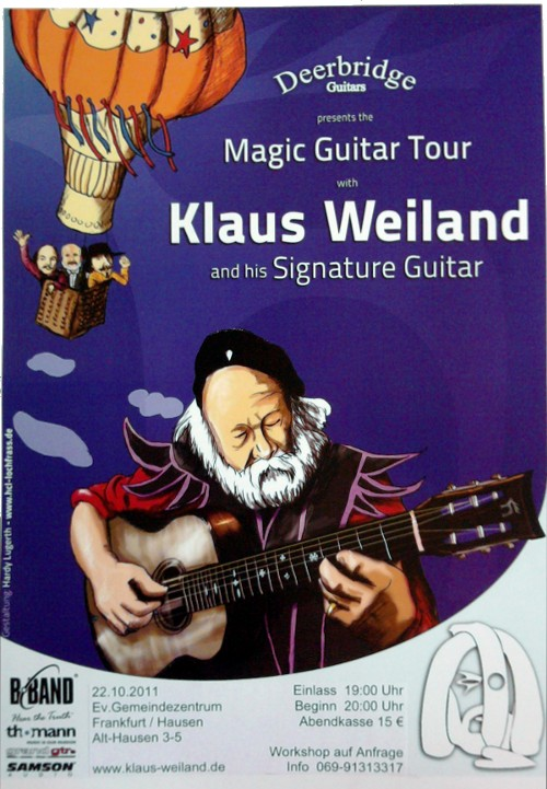 Klaus Weiland - Magic Guitar Tour - auch in Frankfurt am Main - Hausen