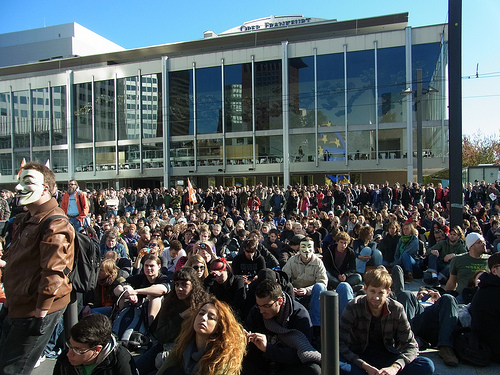 Occupy Frankfurt - Eurobank - von Sterneck