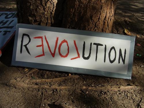 Occupy Frankfurt - Revolution - von Sterneck