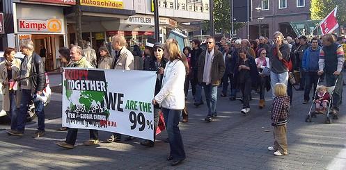 Wir sind 99% - Occupy-Tag in Bochum von stephanski