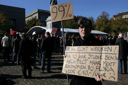 Occupy in Amsterdam von Patrick Savalle