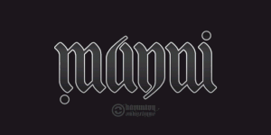 Ambigramm Manni