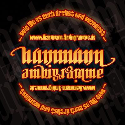 Hier gibt es die coolen Hammann Ambigramme