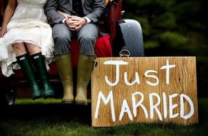 Gummistiefel - Hochzeit