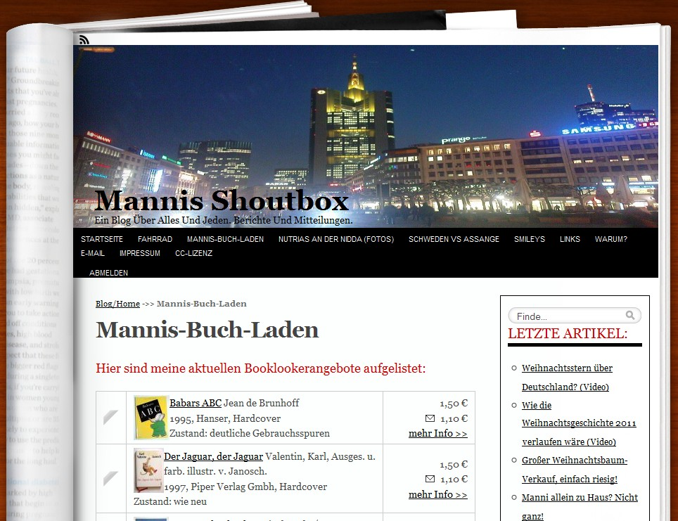 Screenshot des Plugins: WordPress Booklooker-bot
