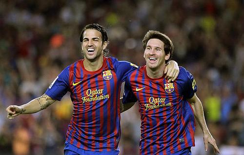 Fabregas und Messi