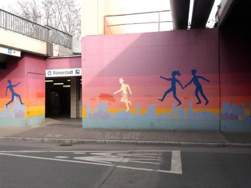 Graffito an der U-Bahn-Station Roemerstadt (Graffiti aus Frankfurt am Main)