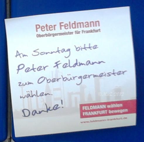 Peter Feldmann - SPD - Stichwahl des Oberbürgermeisters von Frankfurt