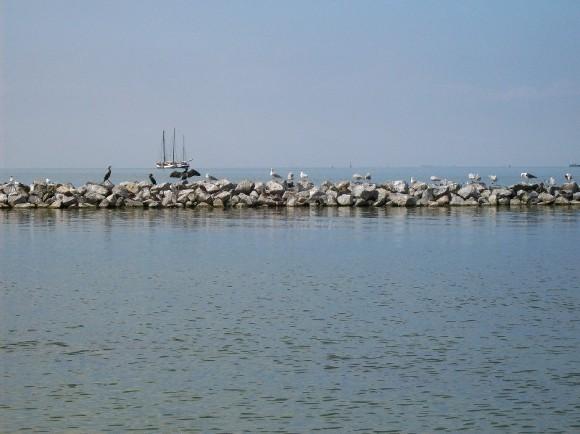 Spirtualität: Abendstimmung am Ijsselmeer bei Urk von Saskia überlassen