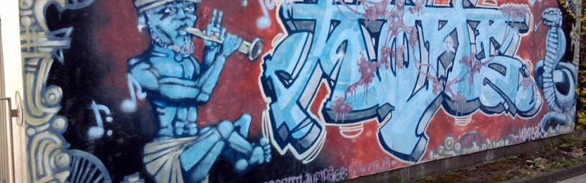 """Das Graffito """"India"""" ein Auftragsgraffito"""