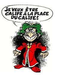 Isnogud und Tunichgud - Hier klicken bringt Euch zur Urheberseite des Franzosen Renè Goscinny