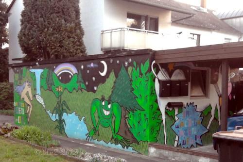 Nightmares and Cow nenne ich dieses Garagen-Graffito.