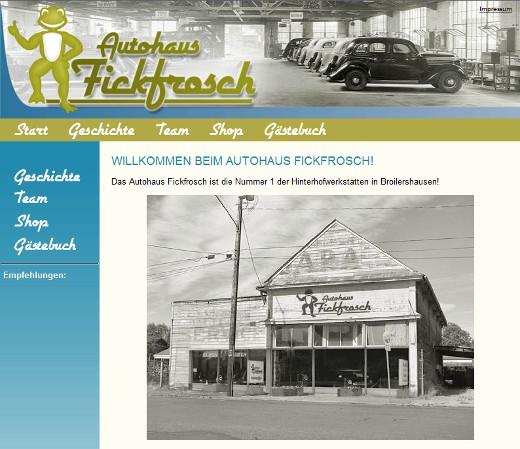 Hier geht es zur Website des Autohauses Fickfrosch