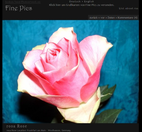 Fine Pics jetzt auch mit eCards - (Screenshot)
