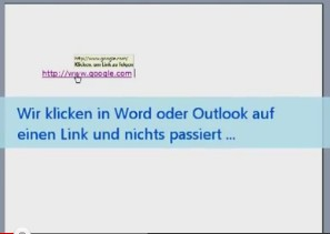 Links aus Word oder Outlook funktionieren nicht