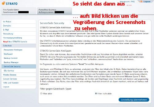 Kommentare im Wordpress Blog werden geblockt bei Strato - Hosting --- ServerSide Security bei Strato ausschalten