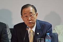 UN Secretary General Ban Ki Moon auf dem erfolglosen Umweltgipfel 2012