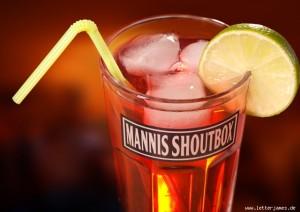 Ein Mannis-Shoutbox-Drink generiert mit Letterjames.de