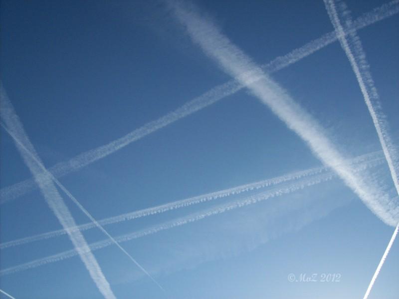 Fluglärm am Sonntagmorgen als Bilddokument statt einer Audiodatei. Aufgenommen am 9. 9.2012 ca. 08:00 Uhr.