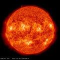 Bild: Sonne am 20.10.2012 um 12:00 MEZ - von der Astronomie Seite Tony Mayers