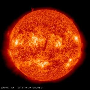 Sonne am 20.10.2012 um 12:00 MEZ - von der Astronomie Seite Tony Mayers