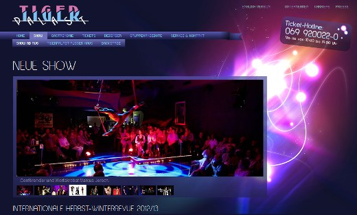 Tigerpalast-Frankfurt - Screenshot von der Website (Show)