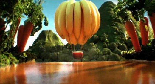 Obst und Gemüse - Screenshot von einem Werbefilm für Fruchtsaft