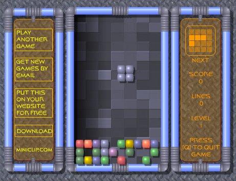 Tetris - wer kennt und kann das noch? Hier klicken um Tetris zu spielen