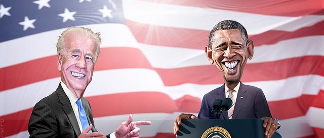 USA Obama und Biden - Schön ist es Präsident zu sein ...