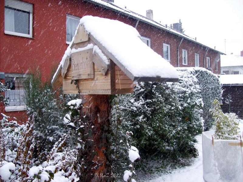 Positiv gedacht ... gekriegt: viel Schnee ... Das ist übrigens das teuerste Skihotel der Frankfurter Bienen