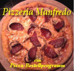 Pizza Bestellprogramm: Scharfe Pilze mit Salami