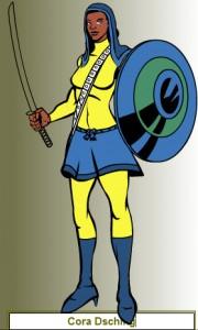 Superheldinnen online machen: Cora Dsching