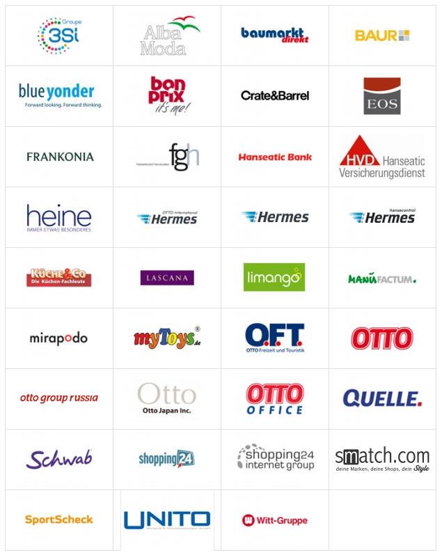 Screenshot von der Otto -  {Group - Tafel(©)}, dem zweitgrößten Internet-Versandhandel