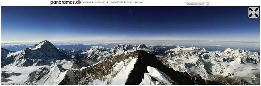 Bild: Sreenshot vom Mt. Everest auf Panoramas.dk aus Panoramafotos von Hans Nyberg
