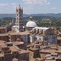 Bild vom Dom von Siena vom Torre del Mangia, Toskana