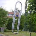 Bild: Ein Denkmal für die Büroklammer in Sandvika - Norwegen