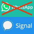 Grafik: Von Whatsapp auf Signal