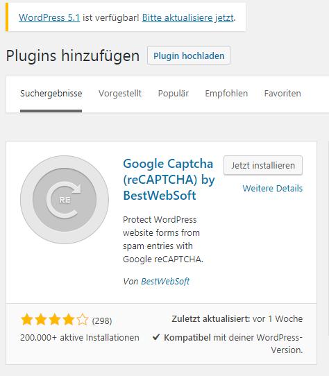 Bild 02: 02 Google ReCaptcha installieren