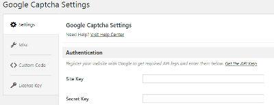 Bild 05: 05 Google ReCaptcha : Schlüssel holen