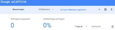 Bild 06: Google Schlüssel für ReCaptcha bei Google holen.